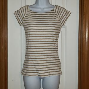 Gold Striped Top